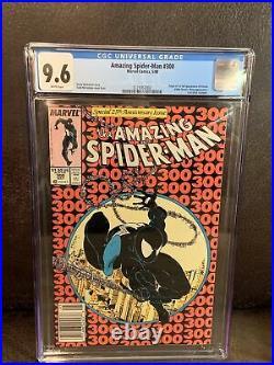 Amazing Spider-Man #300 CGC 9.6 White Pages! Newsstand! 1st. App. Venom 9.8