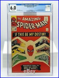 Amazing Spider-Man 31 CGC 6.0 OW 1965 1st Appearance Gwen Stacy Harry Osborn