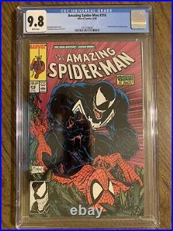 Amazing Spider-Man #316 CGC 9.8 NM/M 1st Venom Cover WHITE PAGES Todd McFarlane