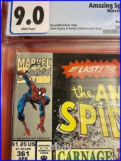 Amazing Spider-Man #361 (1992) 1st Full App Carnage 2nd print CGC Graded 9.0
