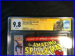 Amazing Spider-Man 361 9.8 CGC Newsstand! Bagley signed and sketch 1st Carnage
