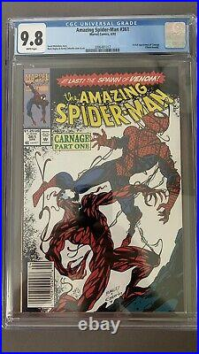 Amazing Spider-Man #361 CGC 9.8 White Pages Newsstand 1st Appearance of Carnage