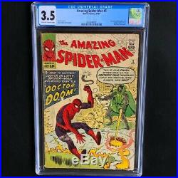Amazing Spider-Man #5 CGC 3.5 1st Doctor Doom outside Fantastic Four! 1963