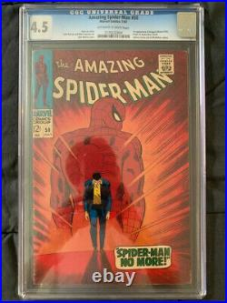 Amazing Spider-Man # 50 (1967) CGC 4.5 1st Kingpin Classic Cover Hot Book