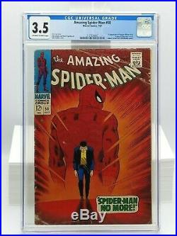 Amazing Spider-Man 50 CGC 3.5 OWithW Pages 1967 1st Appearance of Kingpin