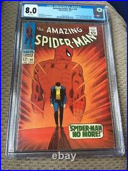 Amazing Spider Man 50 CGC 8.0 WHITE PAGES