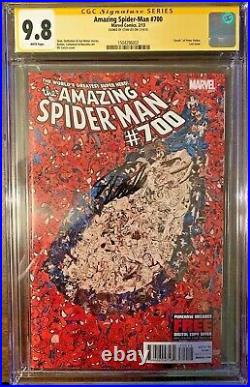 Amazing Spider-Man #700 A CGC SS 9.8 Signed STAN LEE, Collage Cover! RARE