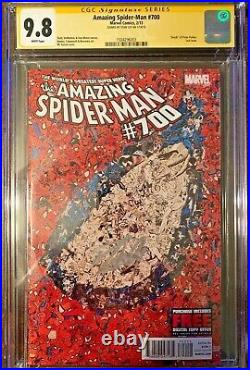Amazing Spider-Man #700 A Collage Cover CGC SS 9.8 Signed STAN The Man LEE