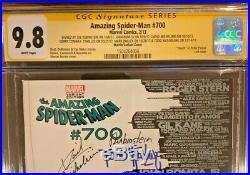 Amazing Spider-Man 700 Martin Skyline SS CGC 9.8 Signed 7x, STAN LEE