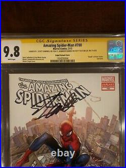 Amazing Spider-Man 700G Coipel CGC SS 9.8 Signed 3x STAN LEE, Ramos, Campbell