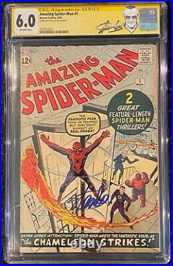 Amazing Spider-man 1 1963 Cgc 6.0 Silver Age Signed Stan Lee Marvel Classic Rare