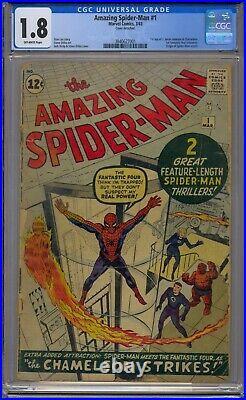 Amazing Spider-man #1 Cgc 1.8 1st J Jonah Jameson Chameleon