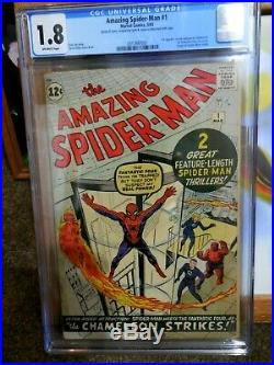 Amazing Spider-man #1 Cgc 1.8 Movie Soon Great Appearance For Display