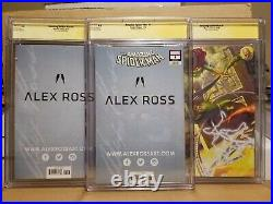 Amazing Spider-man #1 Cgc 9.8 Ss Alex Ross Signed A B C Variant Sdcc Set