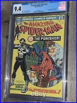 Amazing Spider-man 129 CGC 9.4 NM Marvel 1974 1st Appearance Punisher
