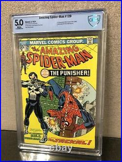 Amazing Spider-man #129 Cbcs 5.0 White Pages 1st Appearance Of Punisher Cgc