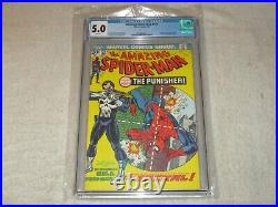 Amazing Spider-man 129 Cgc 5.0! First Appearance Punisher