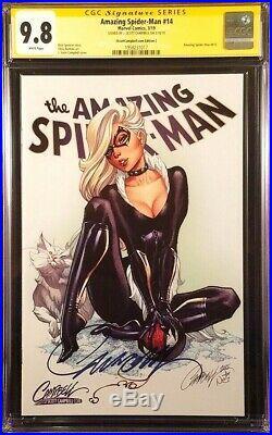 Amazing Spider-man #14 Cgc Ss 9.8 Campbell Variant Black Cat Carnage Venom Gwen