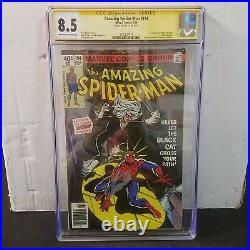 Amazing Spider-man #194 Cgc 8.5 Ss Signed Stan Lee 1st Black Cat