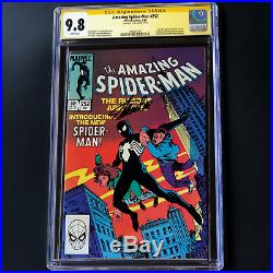 Amazing Spider-man #252 Signed By Stan Lee Cgc 9.8 Ss 1st Black Suit Venom