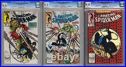 Amazing Spider-man 298, 299, 300 CGC 9.9 Todd McFarlane 1st Venom App Not 9.8