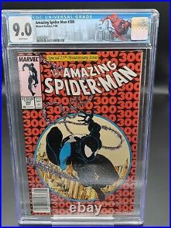 Amazing Spider-man #300 NEWSSTAND CGC 9.0 1st Venom