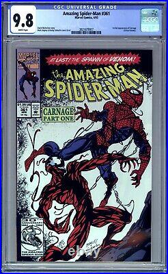 Amazing Spider-man #361 Cgc 9.8 Nm/mt White Pages 1st Appearance Carnage, Venom