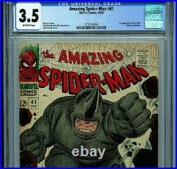 Amazing Spider-man #41 CGC 3.5 1966 1st Rhino Silver Age Marvel Amricons K16