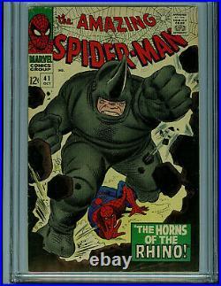 Amazing Spider-man #41 CGC 5.5 1966 1st Rhino Silver Age Marvel Amricons K30