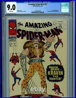 Amazing Spider-man #47 CGC 9.0 1967 Silver Age Marvel Comics K19