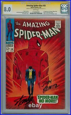 Amazing Spider-man 50 Cgc 8.0 Wp Signature Series Signed Stan Lee Romita Kingpin