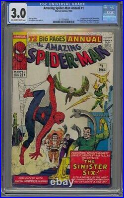 Amazing Spider-man Annual #1 Cgc 3.0 1st Sinister Six