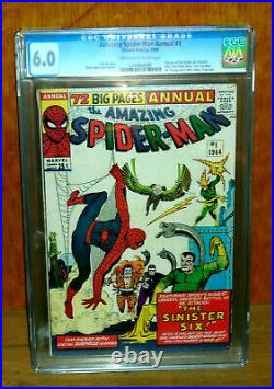 Amazing Spider-man Annual #1 Cgc 6.0 Sinister Six! 1964