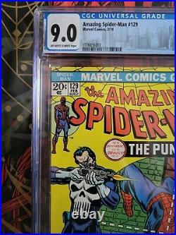 Amazing Spiderman 129 CGC 9.0 First Punisher Gerry Conway John Romita