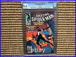 Amazing Spiderman 252 CGC 9.4, First Appearance Black Costume Venom, White Pages