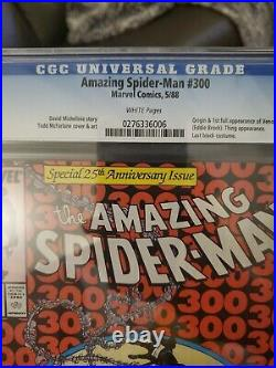 Amazing Spiderman 300 CGC 9.6 White pages. Origin of Venom