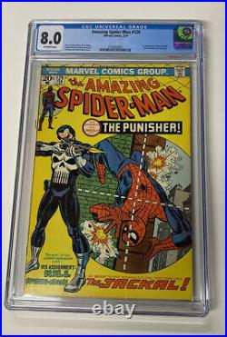 Amazing Spiderman Issue 129 Feb 1974 Cgc 8.0 Vf 1st App Punisher And Jackal