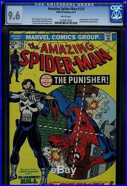 Amazing spider-man #129, CGC 9.6 WPs 1st Punisher! BRIGHT and CENTERED! LOOK
