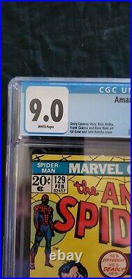 Amazing spiderman 129 Cgc 9.0
