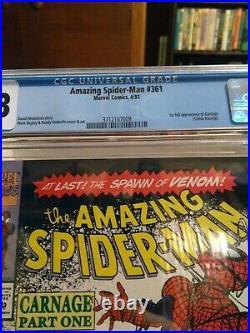 Amazing spiderman 361 cgc 9.8 newsstand