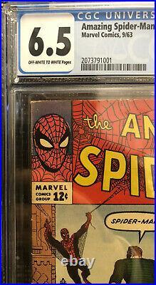 CGC 6.5 Amazing Spider-Man #4 Marvel Comics 1963 1st Appearance of Sandman