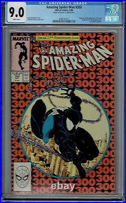 Cgc 9.0 Amazing Spider-man #300 Venom 1st App Wp Signed By Mcfarlane On 1st Page