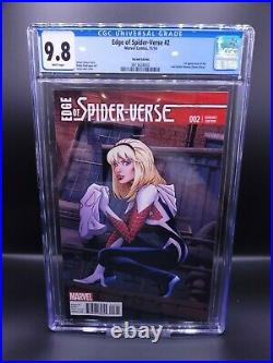 Edge Of Spider-Verse #2 CGC 9.8 Greg Land Variant 1st Appearance Spider-Gwen