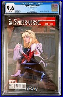 Edge of Spider-Verse #2 CGC 9.6 Greg Land Variant 1st Spider-Gwen Ghost-Spider