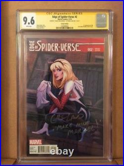 Edge of Spider-Verse #2 CGC 9.6 SS Signed by Greg Land Make Mine Marvel