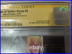 Edge of Spider-Verse #2 CGC SS 9.8 Signature Sketch JASON LATOUR 1st Gwen Stacy