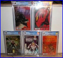 Edge of Spider-Verse CGC 9.8 Lot of 5 Issues 1, 2, 3, 4, & 5 1st Gwen-Stacy ASM