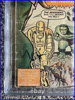 GRAIL! Avengers #1 1963 CGC 2.5 CBCS PGX 1st Silver Age Comic Hulk Thor Iron Man