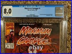 MAXIMUM CARNAGE #1 CGC 8.0 1994 ACCLAIM PROMO Rare