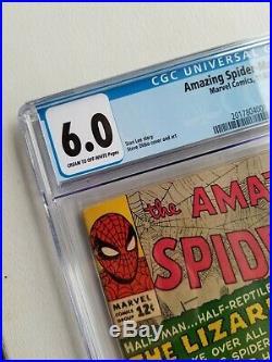 Marvel Comics Amazing Spider-Man #6 CGC 6.0 1st Lizard Stan Lee, Ditko 1963